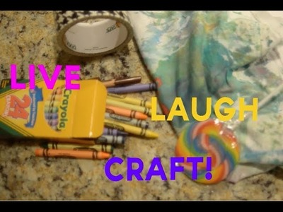 Live Laugh Craft! - How to Make a Sweet Tie-Dye Shirt!!