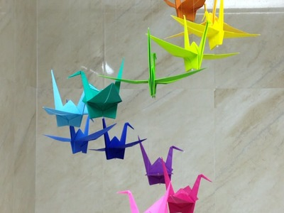 Make a Colorful Origami Crane Mobile - DIY Home - Guidecentral