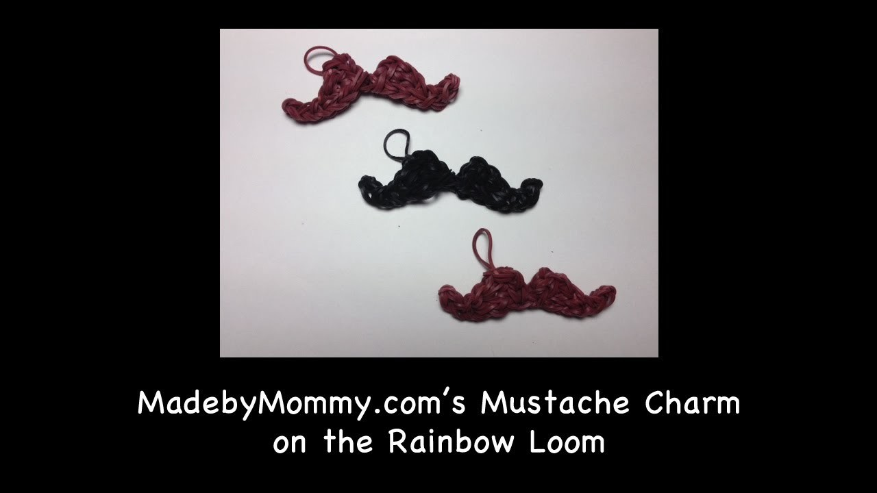 Mustache made from Rainbow Loom Bands