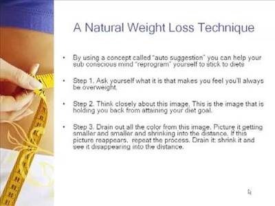 Natural Weight Loss - How To Starve Yourself Of Negative Diet Patterns