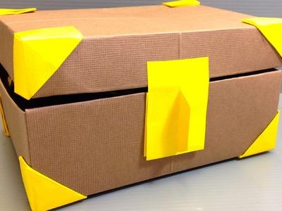 Origami Treasure Box full of Origami Coins