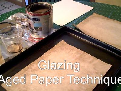 PAPER AGING TECHNIQUE using GLAZE PAINT Craft project journal ideas.