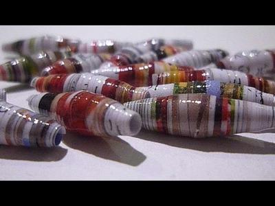 Paper beads - Perles en papier