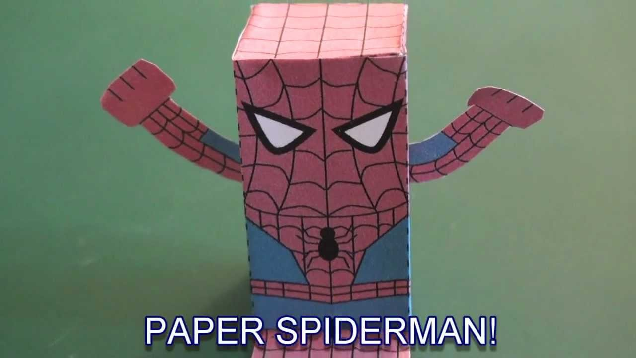 Popular Craft Projects 011 Paper Spiderman Box Figure Tcgames Hd