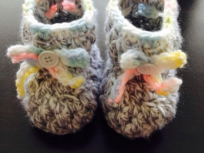 Puff stitch baby booties crochet Tamil
