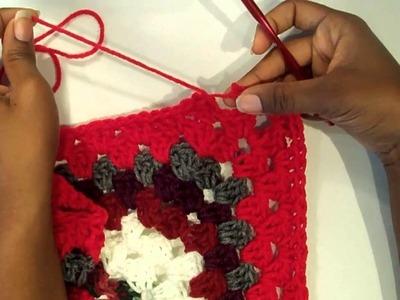 Scrap Yarn Blanket: Color or Yarn Change [TUTORIAL]