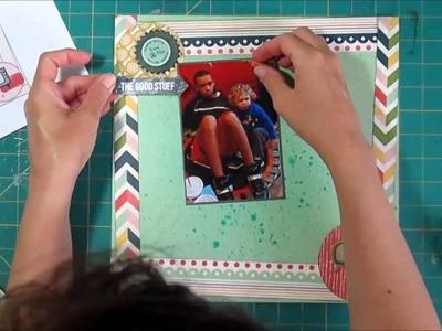 Scrapbook Process Paper Strips Frame