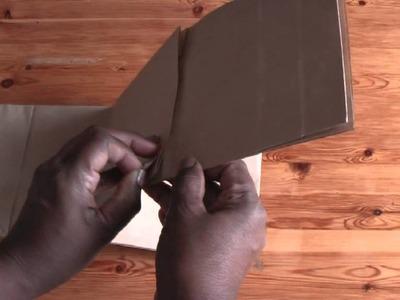 Scrapbook Tutorial Paperbag flip page mini