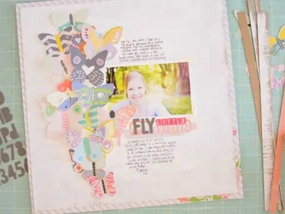 Scrapbooking Tutorial: Little Butterfly scrapbooking page by Wilna