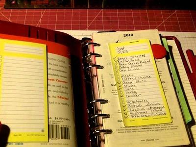 Share: Craft,Mini haul, food journal Filofax