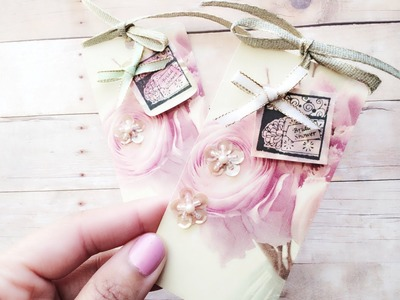 "Simple Mother's Day DIY Gift Tag "" Bridal Shower "" Card Series Cardmaking # 9"