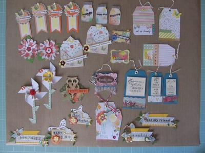 Some Scrapbook Embellishments Made From Scraps