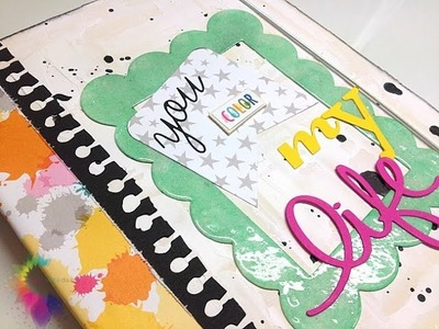 "Workshop Scrapbooking: Mini Album ""You Color My Life"" with Bella BLVD Color Chaos Collection Paper"
