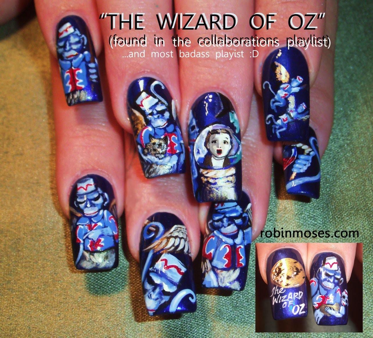 10 Nail Art Tutorials | DIY Nail Art Designs for Long Nails | The Wizard of Oz