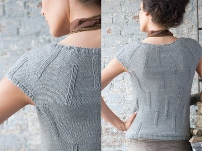 #11 Scoop Neck Top, Vogue Knitting Holiday 2010