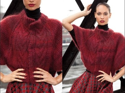 #15 Cable Front Capelet, Vogue Knitting Winter 2011.12