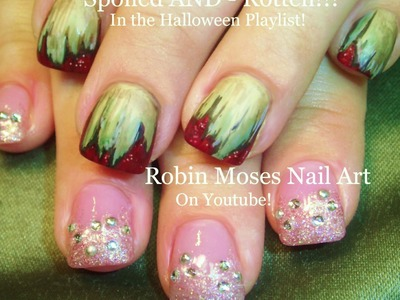 2 Nail Art Tutorials | DIY Easy Halloween Zombie Nail Art | Spoiled & Rotten