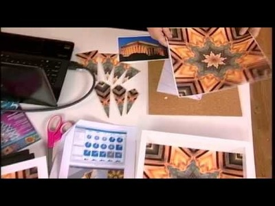 210-1 Host Julie Fei-Fan Balzer uses kaleidoscope software for a framed design on Scrapbook Soup