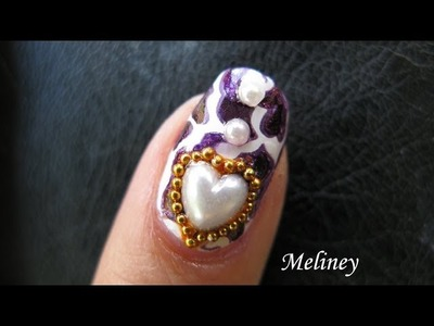 Animal Print Nail Design - Cougar Love Konad Stamping Nail Art Tutorial Beads Decals Image Plate A21