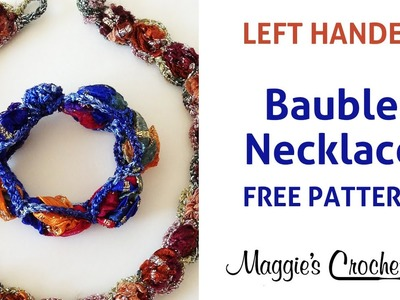 Bauble Necklace Crochet Free Pattern Left Handed