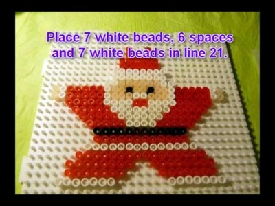 Craft ideas for Christmas - Iron on beads Santa