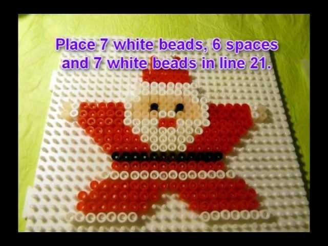 Craft ideas for Christmas - Iron on beads Santa