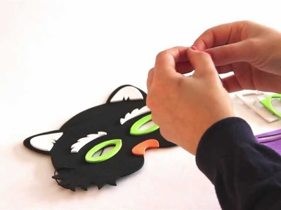 Craft project - How to make a Halloween foam mask