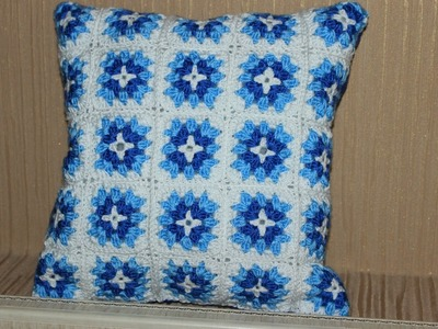 Crochet a Colorful Granny Square Pillow - DIY Home - Guidecentral