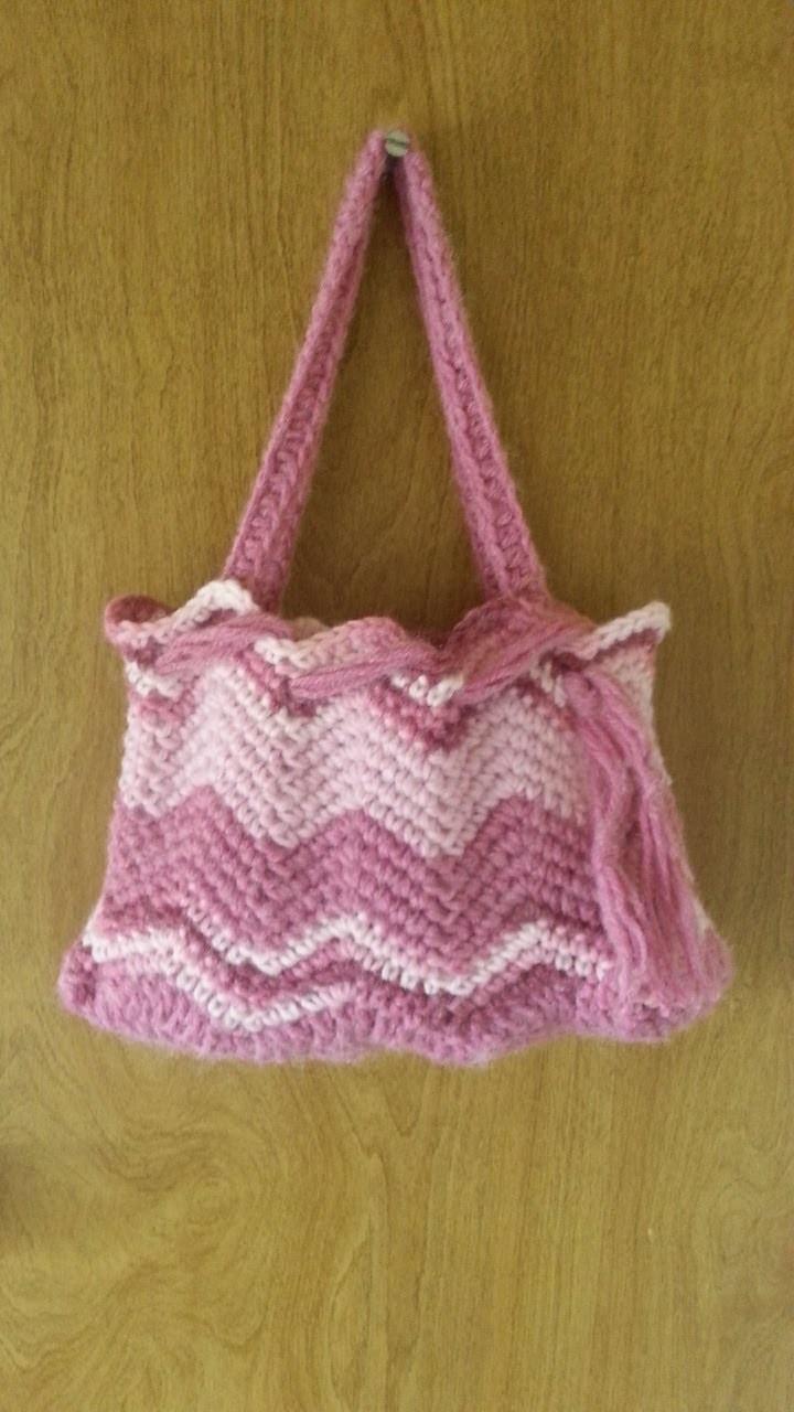 #Crochet Chevron Handbag Purse #TUTORIAL Affordable Handbags Crochet tutorial DIY Purse DIY handbag