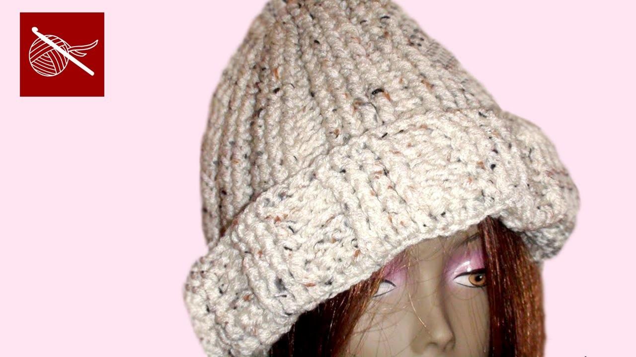 Crochet Cuff Cable Cap - Justin - Crochet Geek