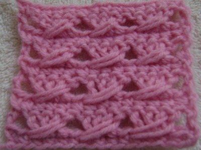 Crochet  - Double Crochet with a Twist - Lighter Version