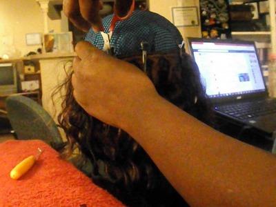 Crochet wig ( With track hair.weaving hair )
