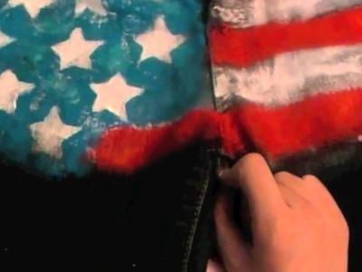 D.I.Y American Flag Shorts Tutorial Part 2
