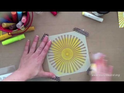 Design Memory Craft Faber Castell Simply Gelatos Video #2: Gesso Stamping. Gelato Stamping