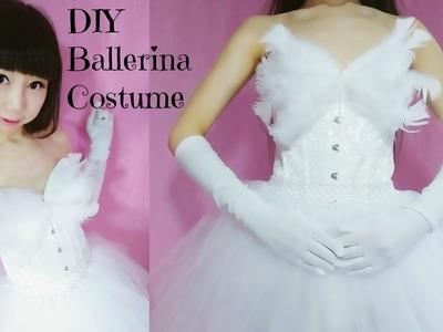 DIY - Ballerina Princess.White Swan Costume (no sew.easy)