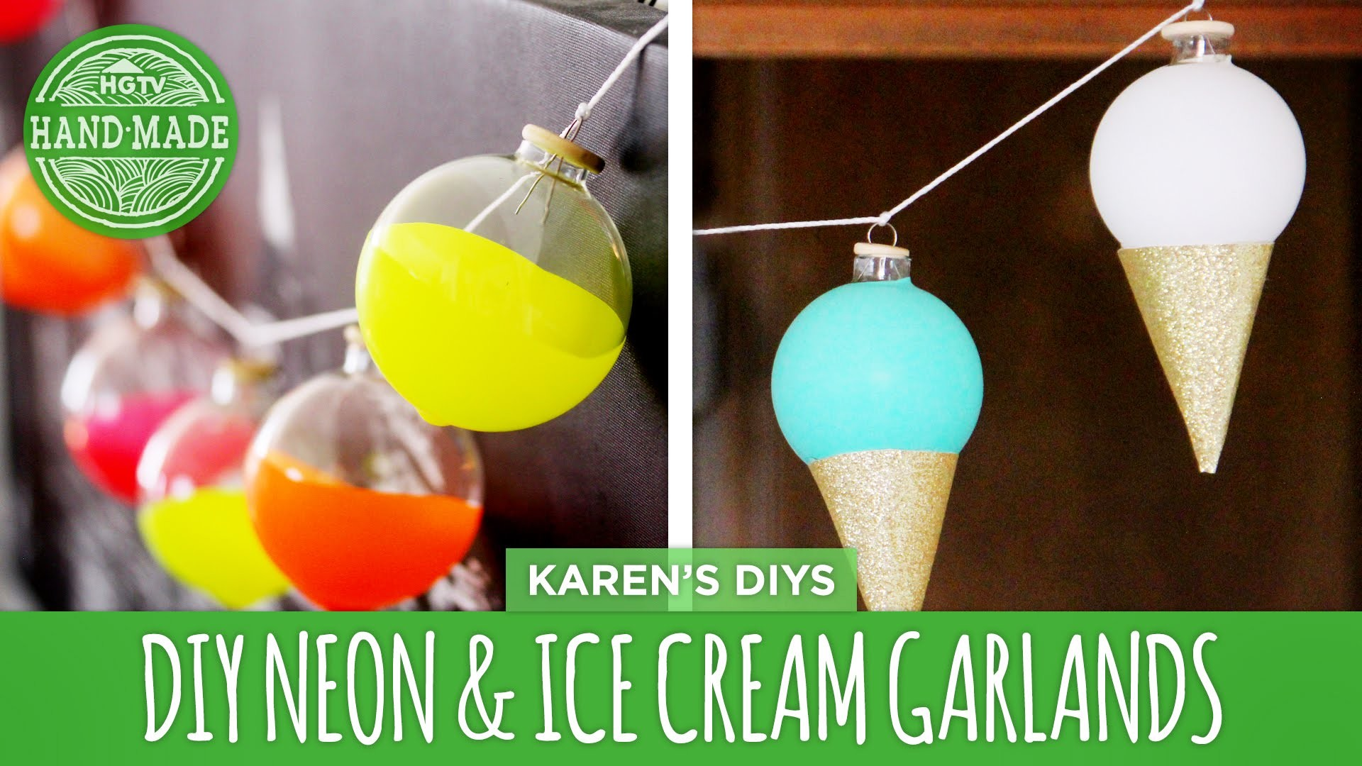 DIY Colorblocked Neon & Ice Cream Springtime Garlands - HGTV Handmade