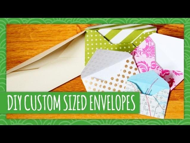 DIY Custom Sized Envelopes - Weekly Recap - HGTV Handmade
