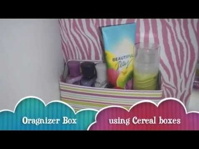 DIY Organizer Box Using Cereal Boxes