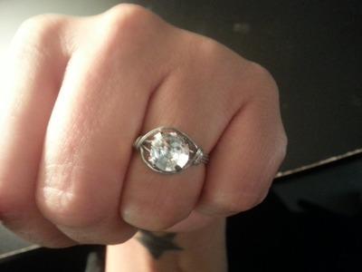DIY Rhinestone and Wire Ring Jewelry Tutorial