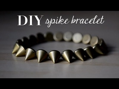 DIY Spike Bracelet | How To Tie a Stretch Bracelet