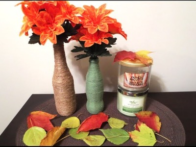 DIY: Upcycle Bottles into Wrapped Vases (Room Decor)