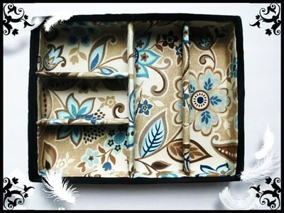 DIY: Vanity Drawer Makeup.Jewelry Organizer - Recycle Your Shoeboxes