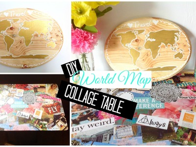 DIY World Map + Collage Table | Easy and Affordable! | Spirited Gal