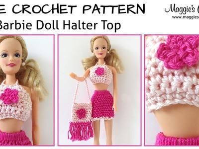 Doll Halter Top Free Crochet Pattern - Right Handed