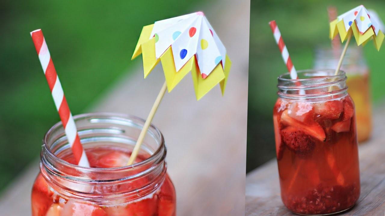 Easy Healthy iced tea with paper umbrella [DIY]