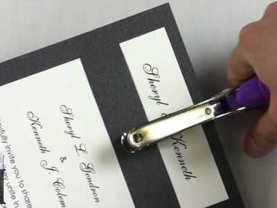 Embellish DIY Invitations With Simple Tools, Decorative Brads
