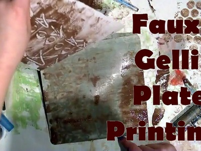 Faux Gel Printing with a Craft Mat