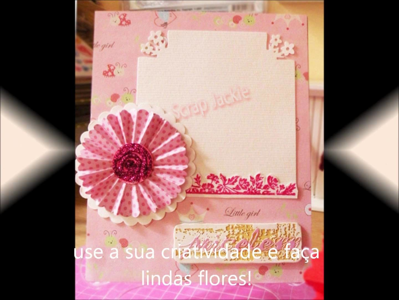 Flor Escalopada - Scaloped flower to scrapbook