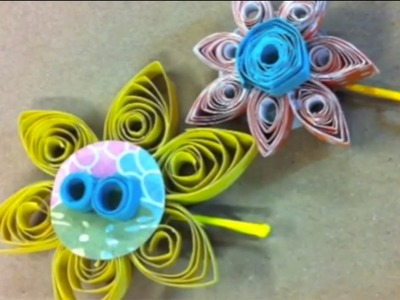 Guest KAYTE TERRY: DIY Quilled Paper Hair Pins || DIY Project