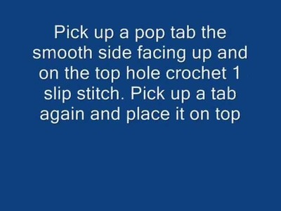 How to crochet a Pop tab cuff bracelet